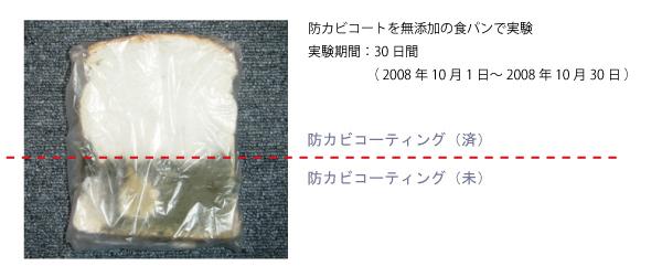 無添加の食パンで実験 30日後