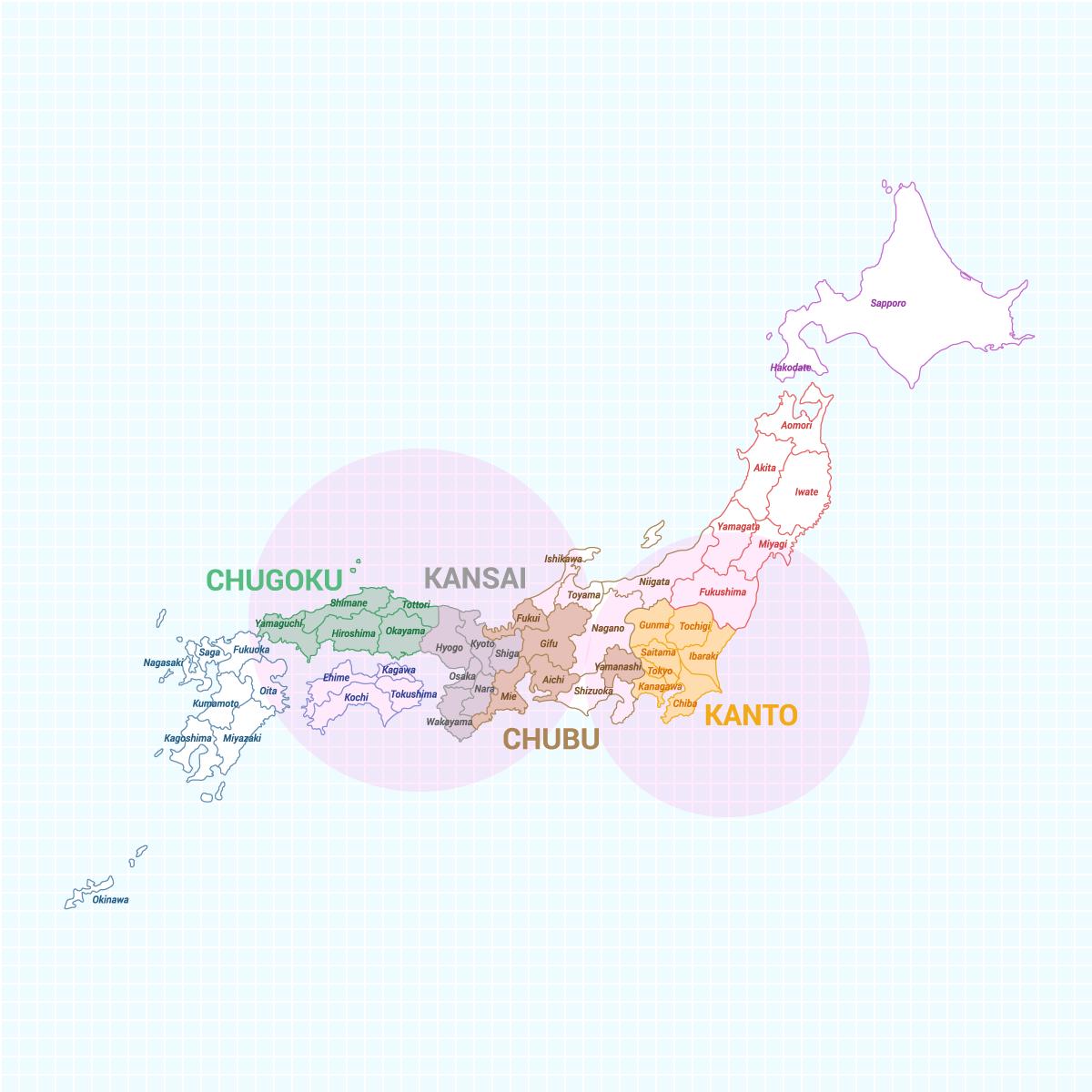 フロアコーティング対応エリア MAP