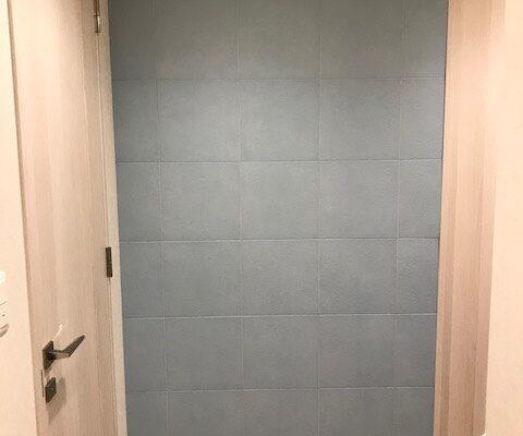 玄関のエコカラットプラス フェミーナグレイッシュブルー