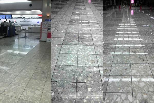 福岡空港第二ターミナル フロアコーティング実績 S-STYLE